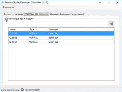 Logiciel RemoteDisplayMessage